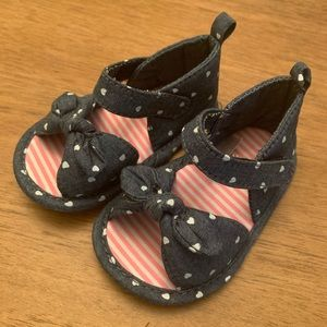 Polka Dot Baby Girl Sandals Size 3-6 Months